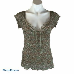 Ann Ferriday Anthro Romantic Gypsy Lace Top Blouse